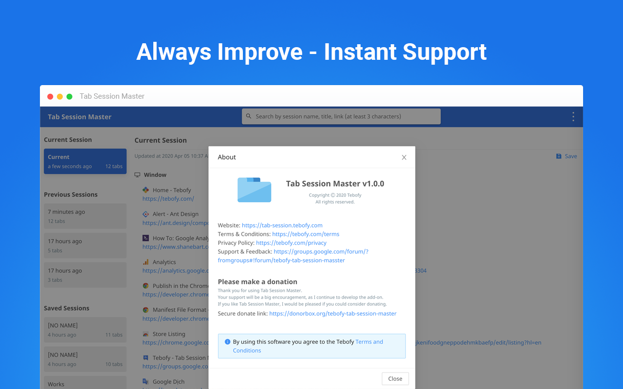 Always Improve - Instant Support